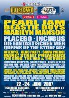 22.06. – 24.06.2007 – Hurricane Festival 2007 u.a. mit Beastie Boys, Pearl Jam, Bloc Party – Scheeßel