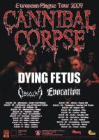21.10.2009 – Cannibal Corpse / Dying Fetus / Evocation / Obscura – Berlin, Columbia Club