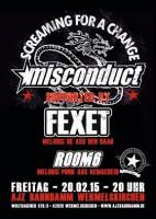 20.02.2015 – Misconduct / Fexet / Room6 – Wermelskrichen AJZ Bahndamm
