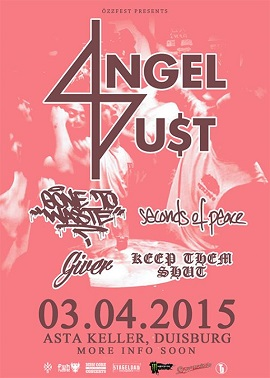 03.04.2015 – Angel Du$t / Gone to Waste / In Circles u.a. – Duisburg AStA Keller