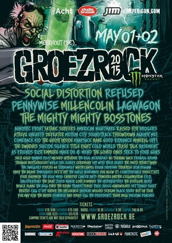 02.05.2015 – Groezrock u.a. mit Refused, Millencolin, Agnostic Front – Belgien Meerhout (Tag 2)