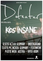 Kids Insane: Tour-Support für Defeater