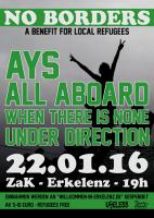 Flüchtlingshilfe: Benefiz-Konzert mit Ays und All Aboard!