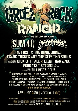 30.04.2016 – Groezrock 2016 u.a. mit No Use For a Name / Dag Nasty – Belgien Meerhout (Tag 2)