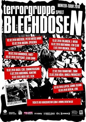 Terrorgruppe: Tour mit Blechdosen