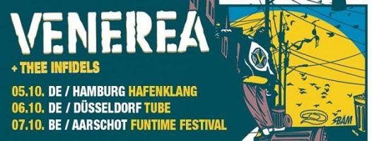 Venerea: Für drei Gigs auf kleinen Bühnen